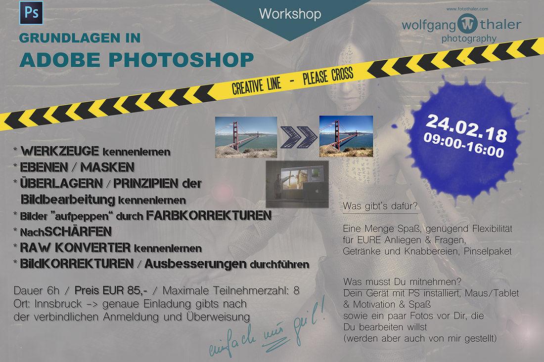 Adobe Photoshop Beginner Workshop !!