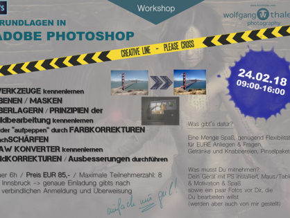 Adobe Photoshop Beginner Workshop !!