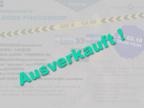 Adobe Photoshop Beginner Workshop – AUSVERKAUFT !!