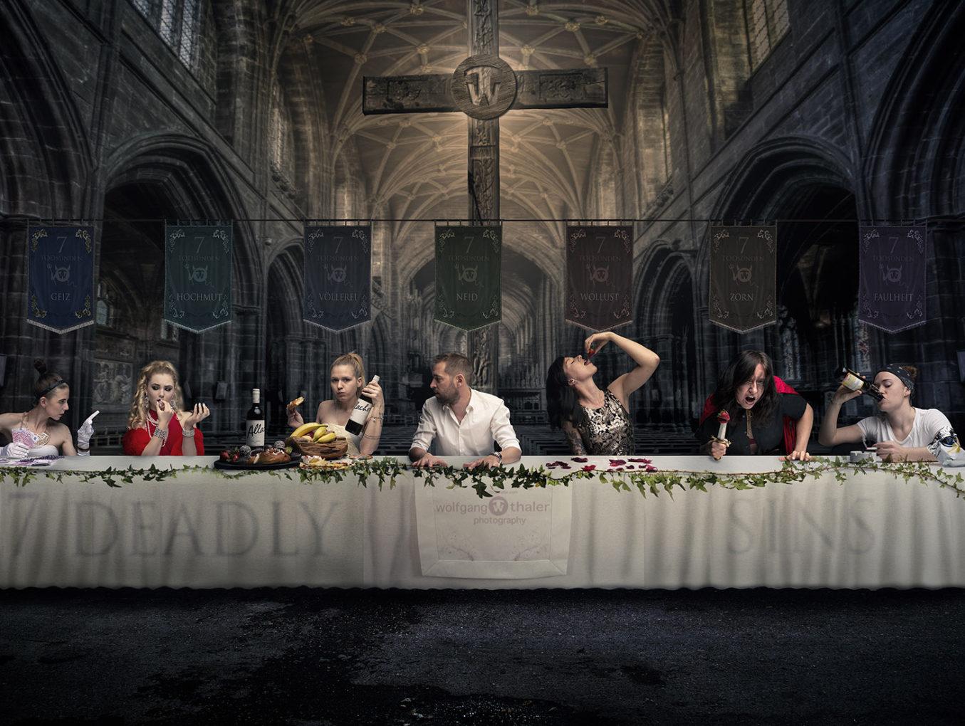 Unser Fotoprojekt: Sieben Todsünden