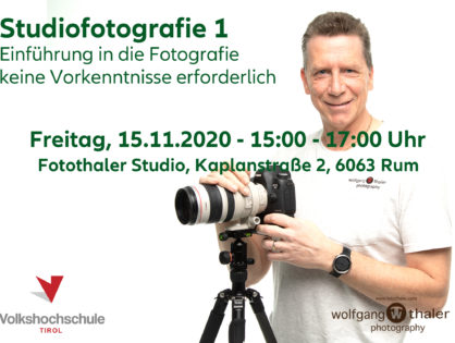 Studiofotografie 1 - Einführung in die Studiofotografie