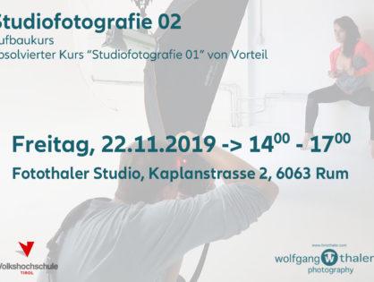 Studiofotografie 2 Aufbaukurs