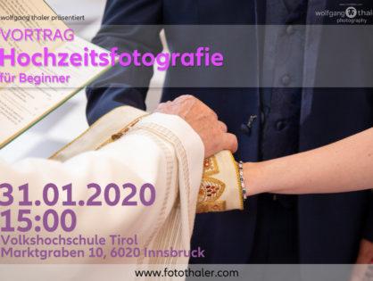 """(VHS) Vortrag """"Hochzeitsfotografie für Beginner"""""""