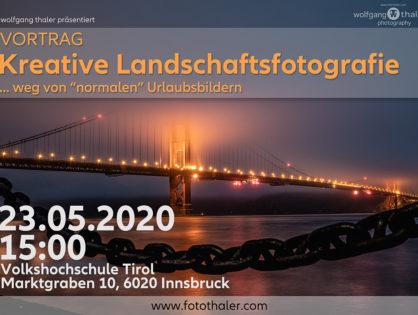 """(VHS) Vortrag """"kreative Landschaftsfotografie"""""""