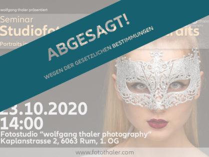 (VHS) Studiofotografie 03 - Portraits (ABGESAGT!!)