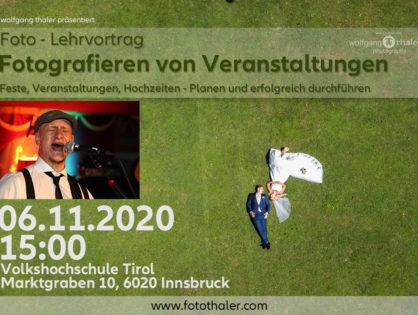 """(VHS) Vortrag """" Fotografieren von Festen/Feiern und Veranstaltungen"""""""