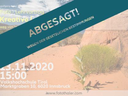 """(VHS) Vortrag """"kreative Landschaftsfotografie"""" (ABGESAGT !!)"""