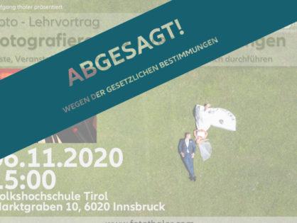 """(VHS) Vortrag """" Fotografieren von Festen/Feiern und Veranstaltungen"""" (ABGESAGT!!)"""