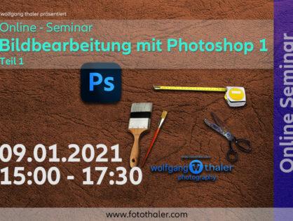 ONLINE Seminar - Photoshop Teil 1