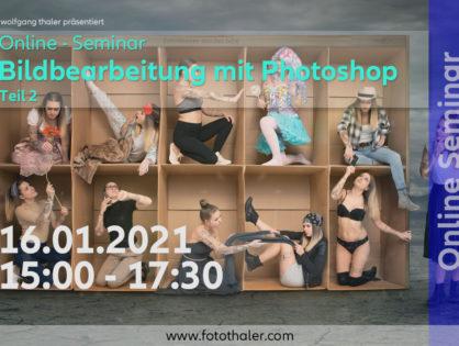 ONLINE Seminar - Photoshop Teil 2