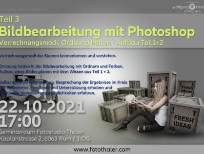 Bildbearbeitung mit Photoshop - Teil 03